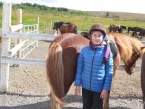 Stulka með hestur