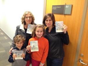 Passports with visas to Spain!
