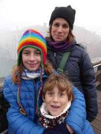 On the Ponte dell'Accademia.