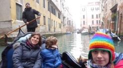 Our gondolier had to wait 10 years to earn his spot. Now, he is happy.