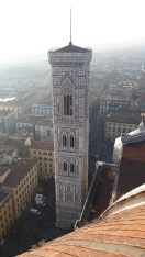 We waited in line to climb up Giotto's Bell Tower...