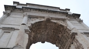 A large monument in honor of the Romans' defeat of Judea.