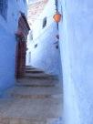 Blue alleyway.